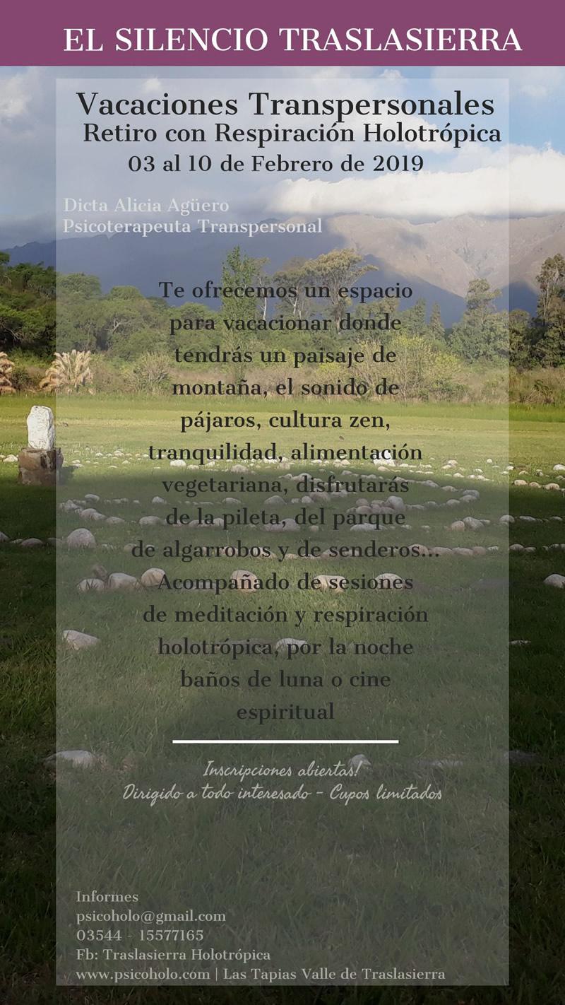 Retiro y Vacaciones con Respiración Holotrópica