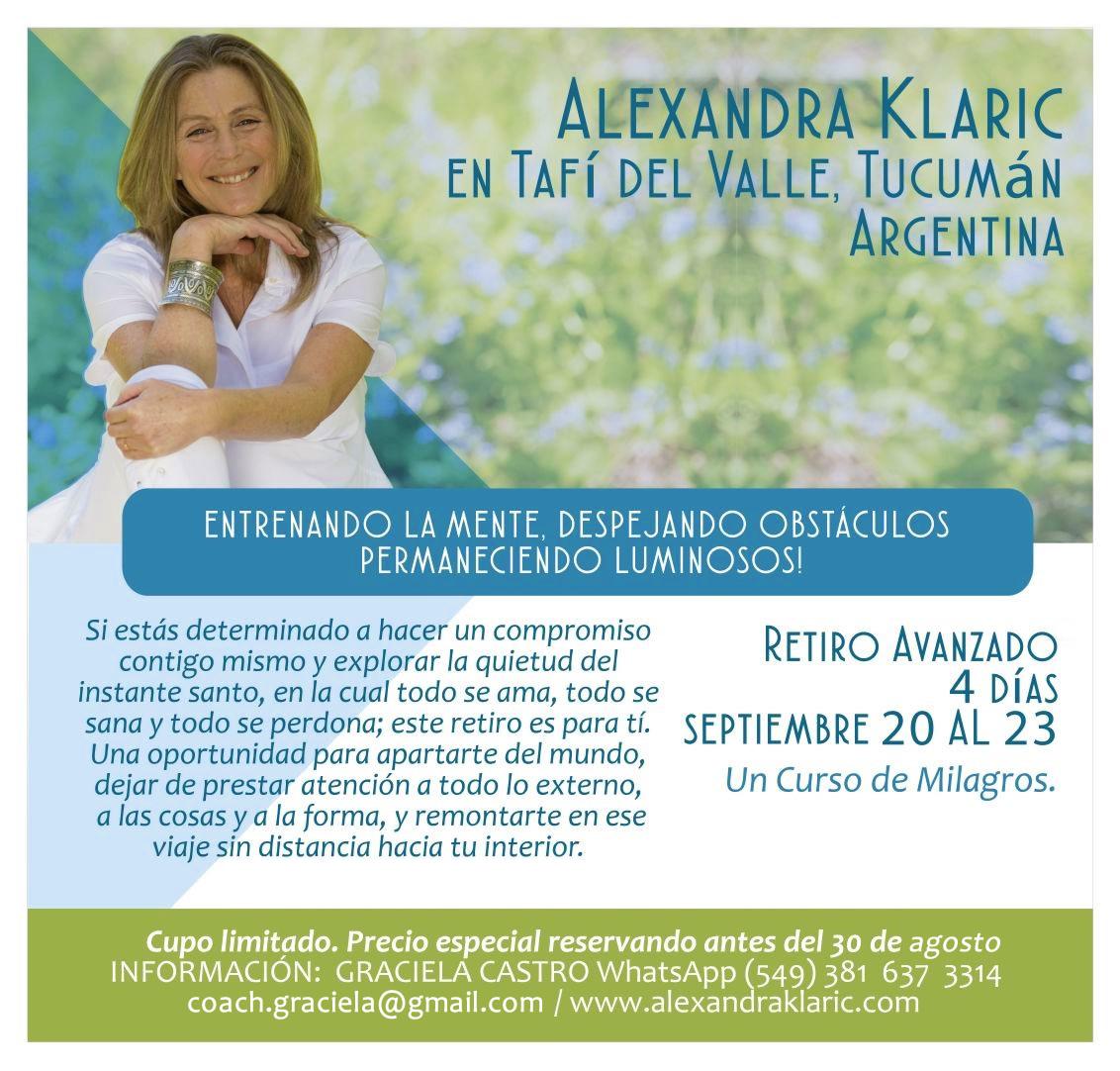 Retiro de Un Curso de Milagros - Alexandra Klaric en Tafí del Valle, Tucumán, Argentina