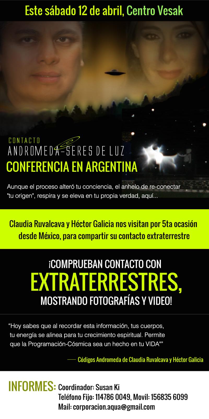 Contacto Andrómeda, Seres de Luz - Conferencia en Argentina