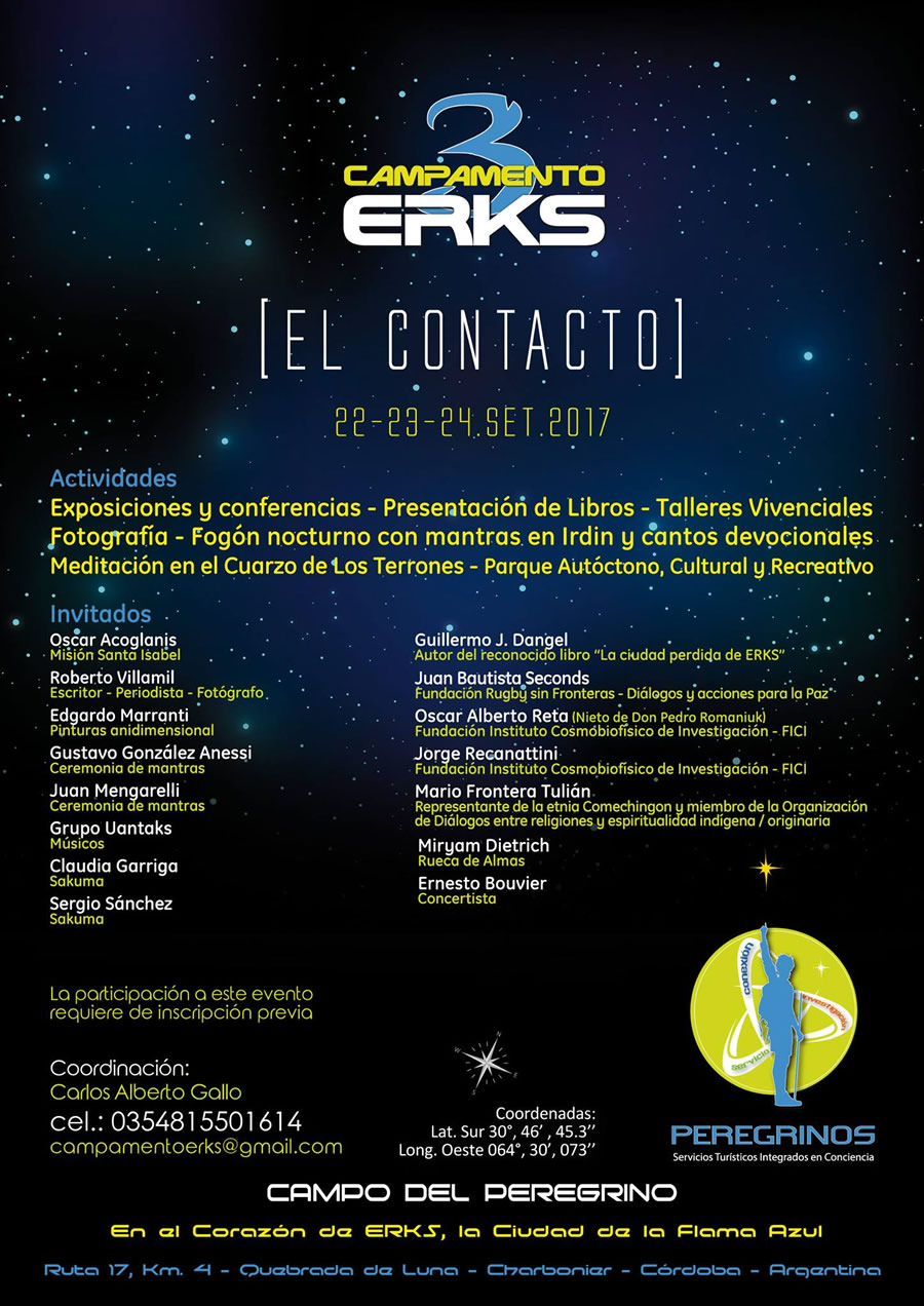 Tercer Campamento Erks en Capilla del Monte, Córdoba, Argentina, El Contacto