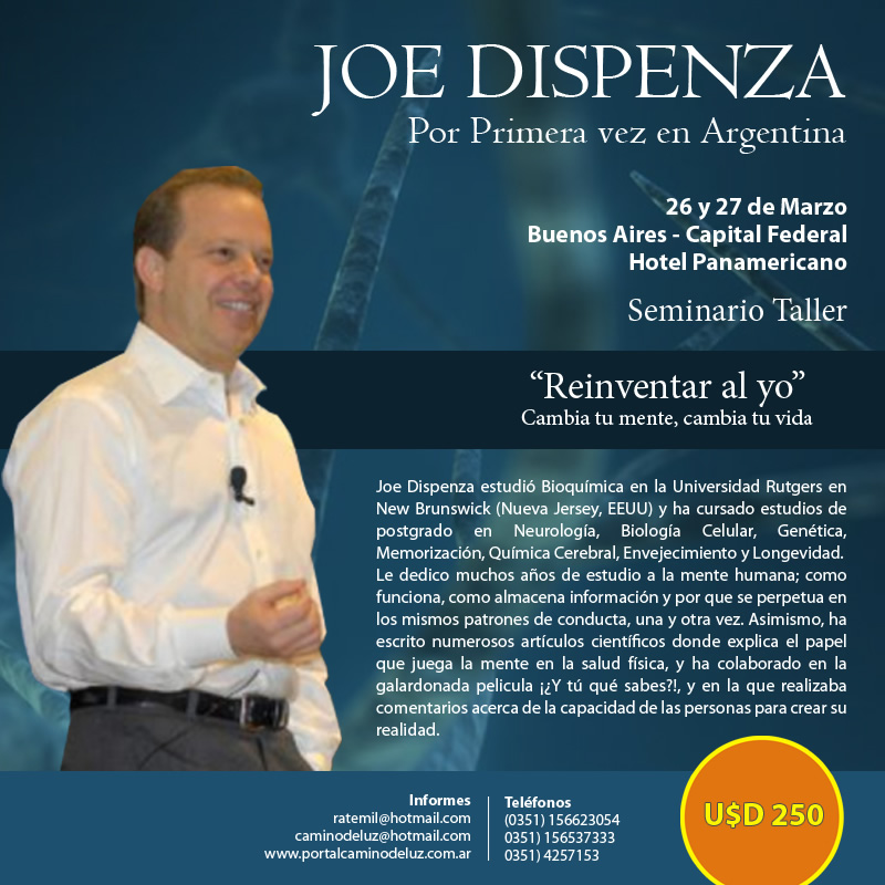 Dr. Joe Dispenza por primera vez en Argentina