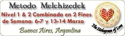 Método Melchizedek - Curso Nivel 1 & 2 Combinado en Buenos Aires, Argentina, Nivel 1&2 combinado en 2 fines de semana: 6-7 y 13-14 de Marzo 2010