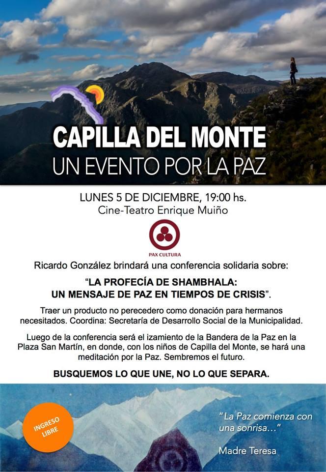 Conferencia Solidaria de Ricardo Gonzalez: 'La Profecía de Shambhala:  Un mensaje de paz en tiempos de crisis'