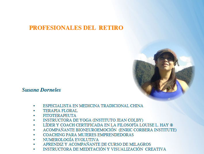 Profesionales del Retiro: Susana Dorneles