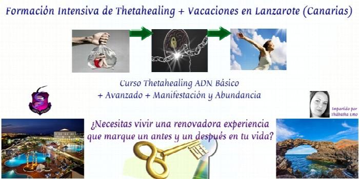 Resultado de imagen de VACACIONES Y FORMACIÓN EN THETAHEALING BÁSICO Y AVANZADO EN LANZAROTE.