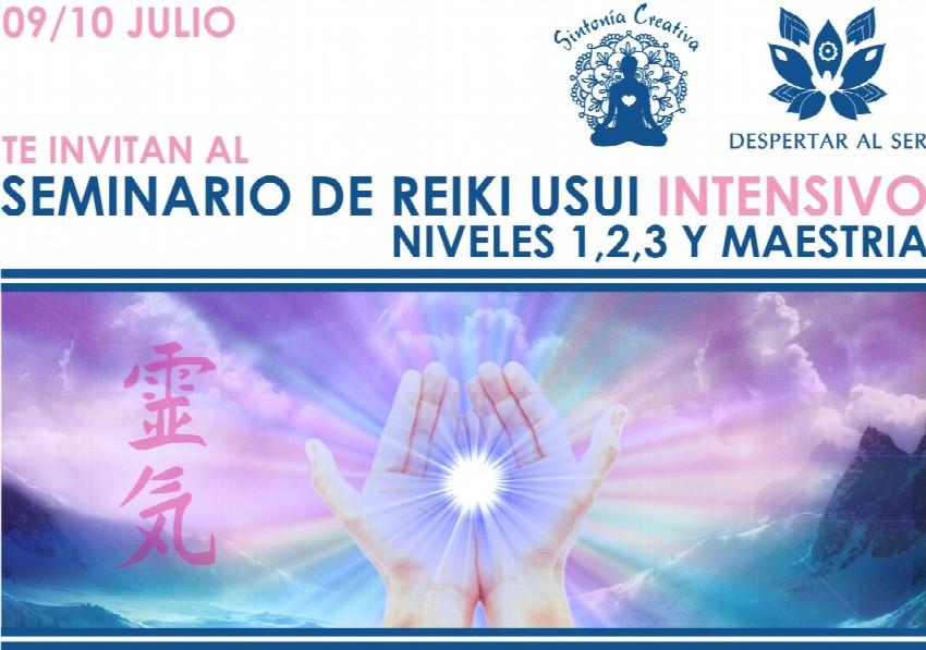 Seminario Intensivo de Reiki Usui. Niveles I, II, III,